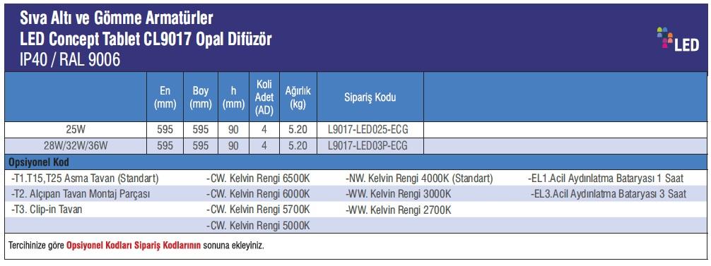 CL9017-urun_bilgisi